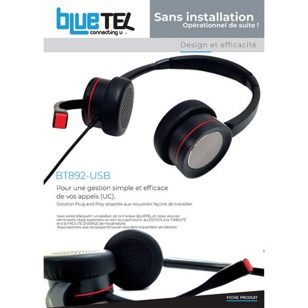 nouveau casque  Bluetel  BT892 USB