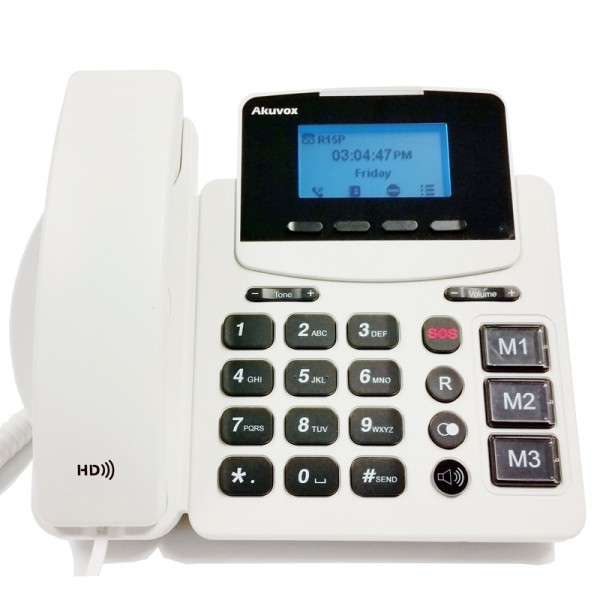 Téléphone pour seniors. Akuvox HCP-R15P