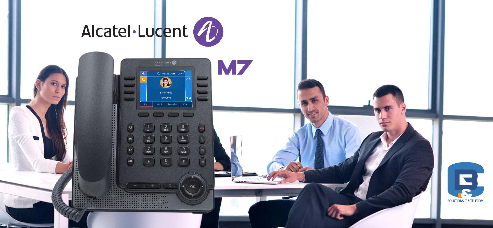 Téléphone SIP Professionnel M7 gamme Myriade alcatel by bc
